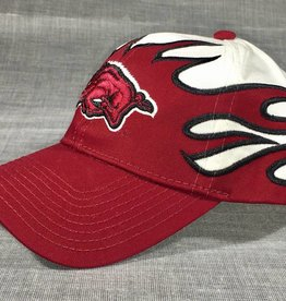 Lloyd Sales Arkansas Razorback Flame Cap