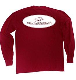 MV Sport Arkansas Razorback Comfort Colors LST By MV Sport