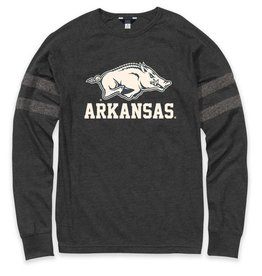 Arkansas Razorback Liam Striped Arm Crew LST