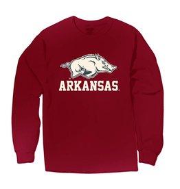 Arkansas Razorback Comfort Colors Garment Dyed & Wash Long Sleeve Tee By MV Sport