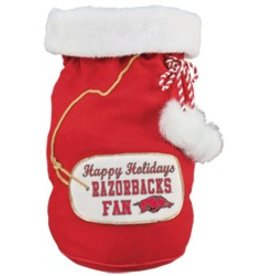 Arkansas Razorback Christmas Santa Bag