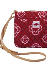 Arkansas Razorbacks Quilted Cross Body Bag