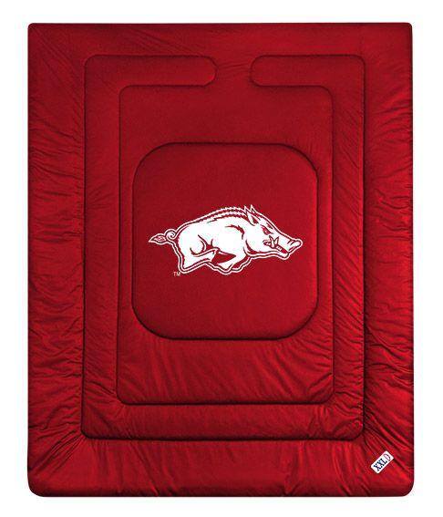 """Arkansas Razorbacks Ncaa Football Field Runner Man Cave: Arkansas Razorback """"Locker Room"""" Comforter By Sports"""