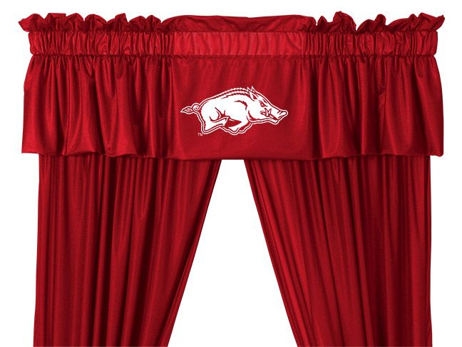 Arkansas Razorback Window Valance By Sports Coverage The