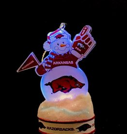 Topperscot Arkansas Razorback Lighted LED Snowman Christmas Ornament