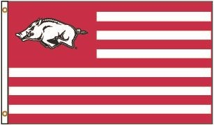 University Blanket & Flag Arkansas Razorbacks 3 X 5 Hog & Stripes Spirit Flag