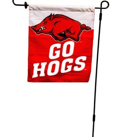 University Blanket & Flag Garden Flag  White/Red  GO HOGS
