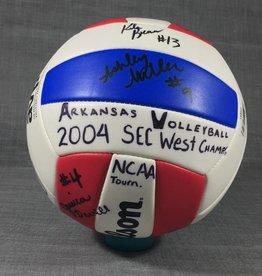 Arkansas Razorback 2004 SEC West Champ Autograph Volleyball