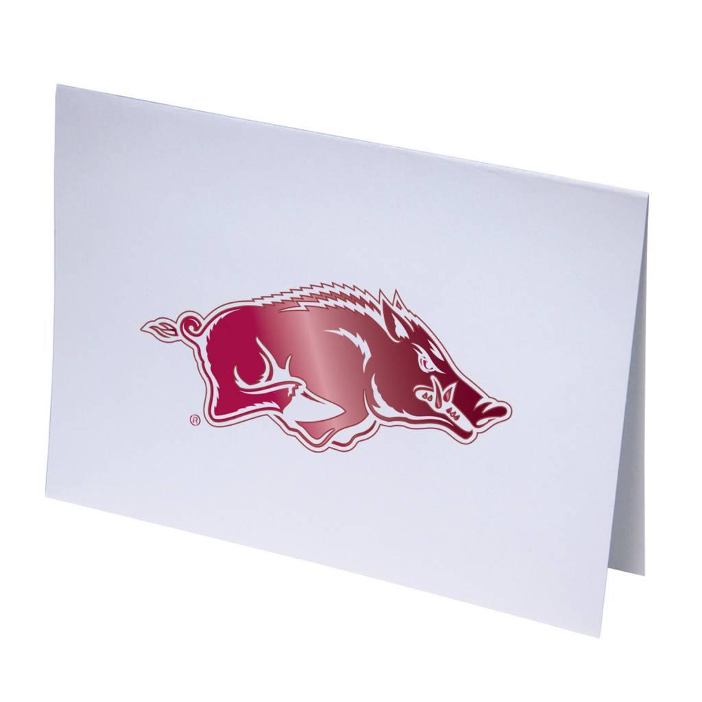 Arkansas Razorback Foil Note Card The Stadium Shoppe On