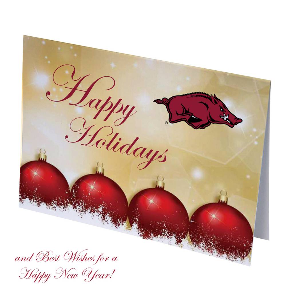 Arkansas Razorbacks Happy Holidays Christmas Cards - The Stadium ...