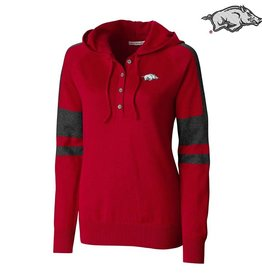 Cutter & Buck Ladies Razorback Cutter & Buck Kate Hooded Henley Sweater
