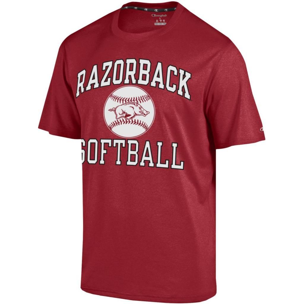 Arkansas Razorbacks Softball Short Sleeve Tee By Champion