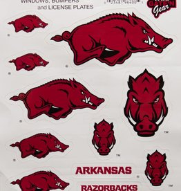 Arkansas Razorback Multi Hog Sticker Sheet