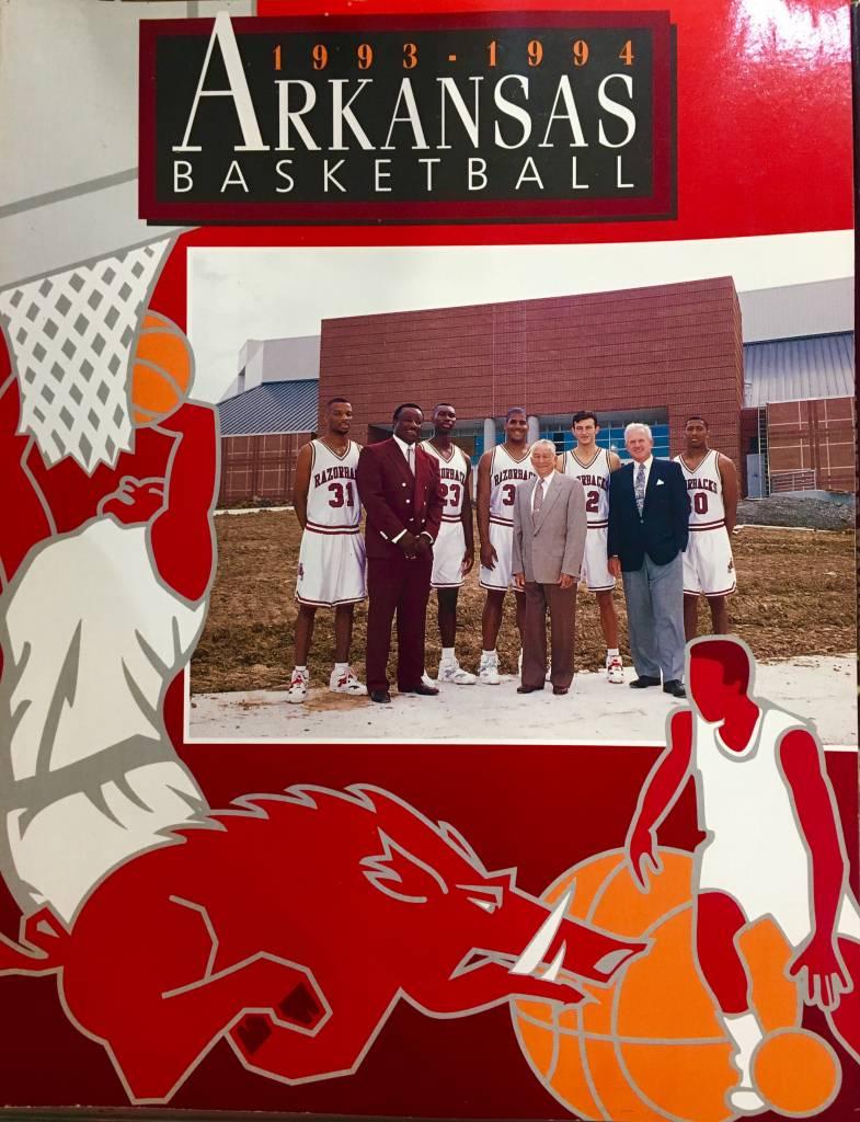 1993 94 Arkansas Razorback Basketball Media Guide For The