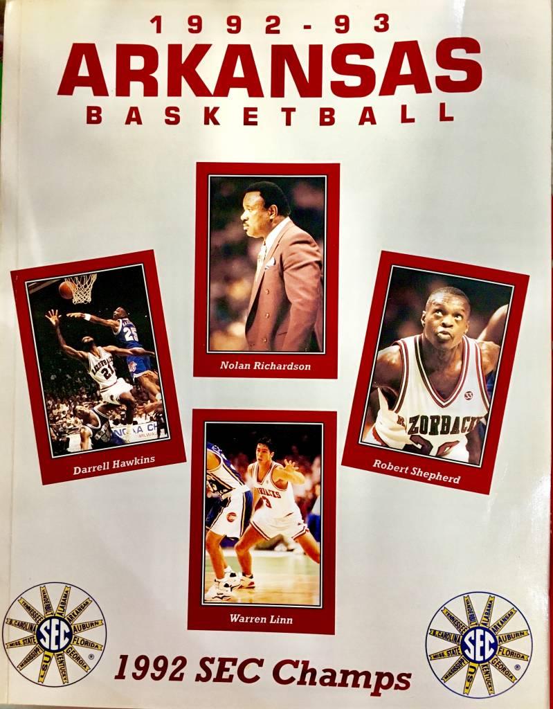 1992 93 Arkansas Razorback Basketball Media Guide Rare