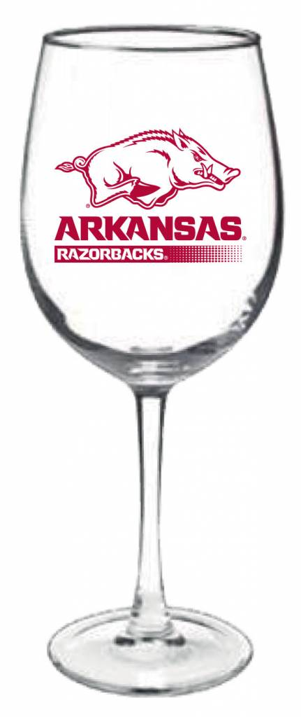 Arkansas Razorback 19 Oz Connoisseur Wine Glass The
