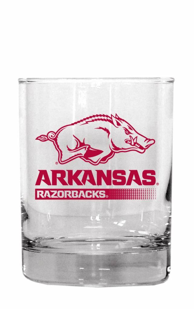 Arkansas Razorback 14oz Rocks Glass The Stadium Shoppe