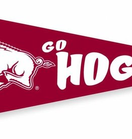 Collegiate Pacific Running Hog / Go Hogs 12 x 30 Felt Pennant