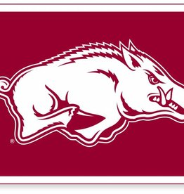 Collegiate Pacific Razorback Running Hog Felt Banner 14x24