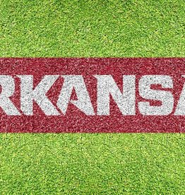 U-Stencil Arkansas Razorback ARKANSAS Lawn Stencil & Paint - DS