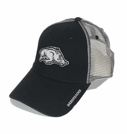 Arkansas Razorback Black & Silver Mesh Hat