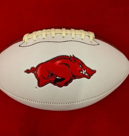 Baden Arkansas Razorback Autograph Football