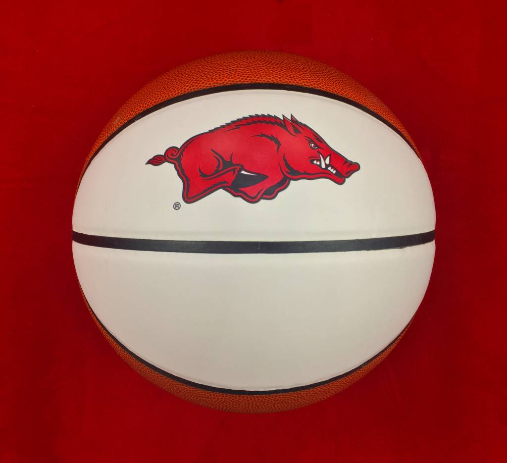 Arkansas Razorback Autograph Basketball By Baden The