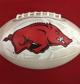 Game Master Razorback Official Size Autograph Football By Game Master