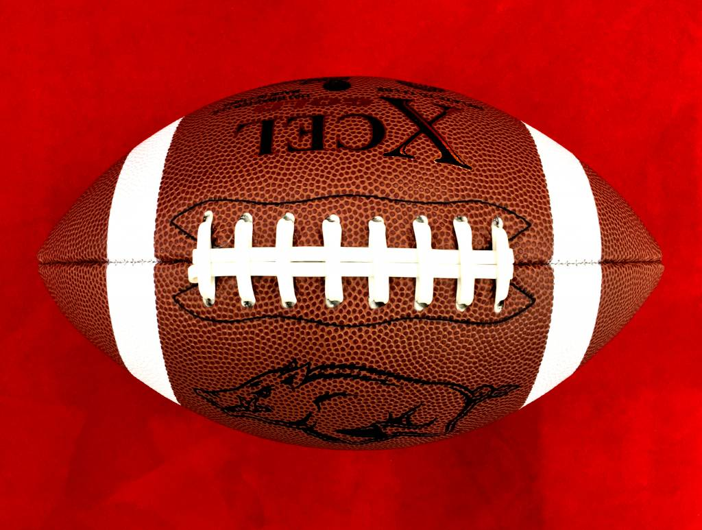 Game Master Arkansas Razorback Official Size Xcel Gold Football