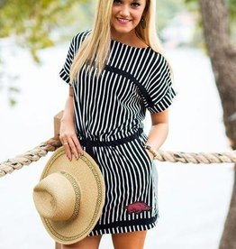 Gameday Courure Razorback Striped Tee Dress