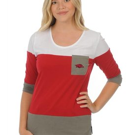 University Girls Arkansas Razorback Colorblock Women's Top