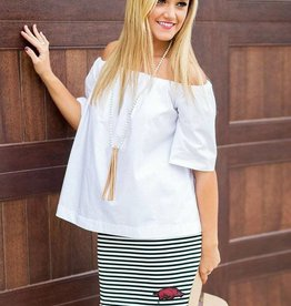 Arkansas Razorbacks Making Waves Scalloped Edge Skirt
