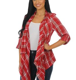 University Girls Razorback Women's Plaid Cardigan