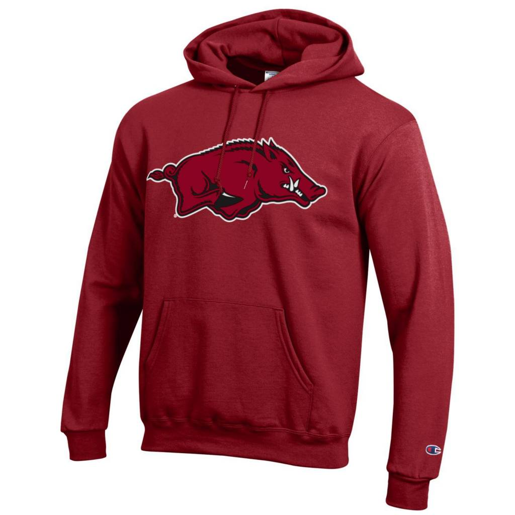 Champion Arkansas Razorback Powerblend Hood Versa Twill Running Hog