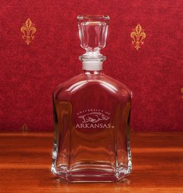 Campus Crystal Crystal Burbon Decanter Etched U of A