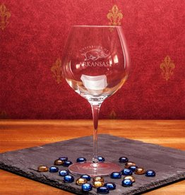 Campus Crystal Crystal Robusto Wine Glass Etched U of A