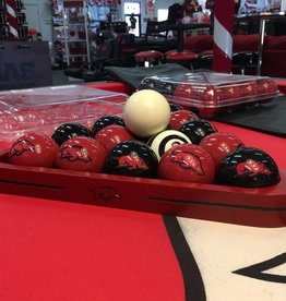 Billiard Triangle Wood - Red