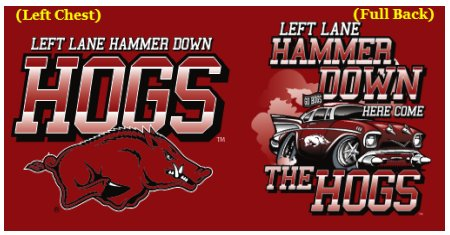 Image One Razorback Left Lane, Hammer Down HERE COME THE HOGS!