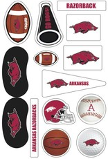Game Faces Arkansas Razorback 14 Piece Assorted Face Tattoos