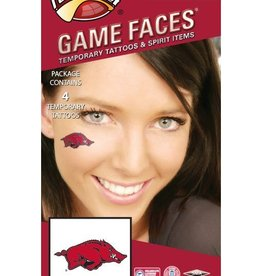 Game Faces Waterless Face Tattoos 4PK