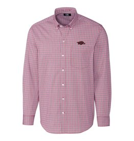 Cutter & Buck Razorback Casey Check Button Down Shirt