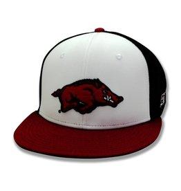The Game Razorback Flat Bill Diamond Mesh Hat