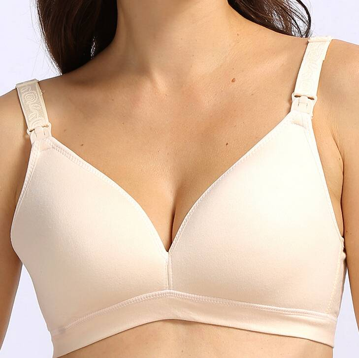 June & Dane Cotton t-shirt nursing bra Peach C cup to D cup