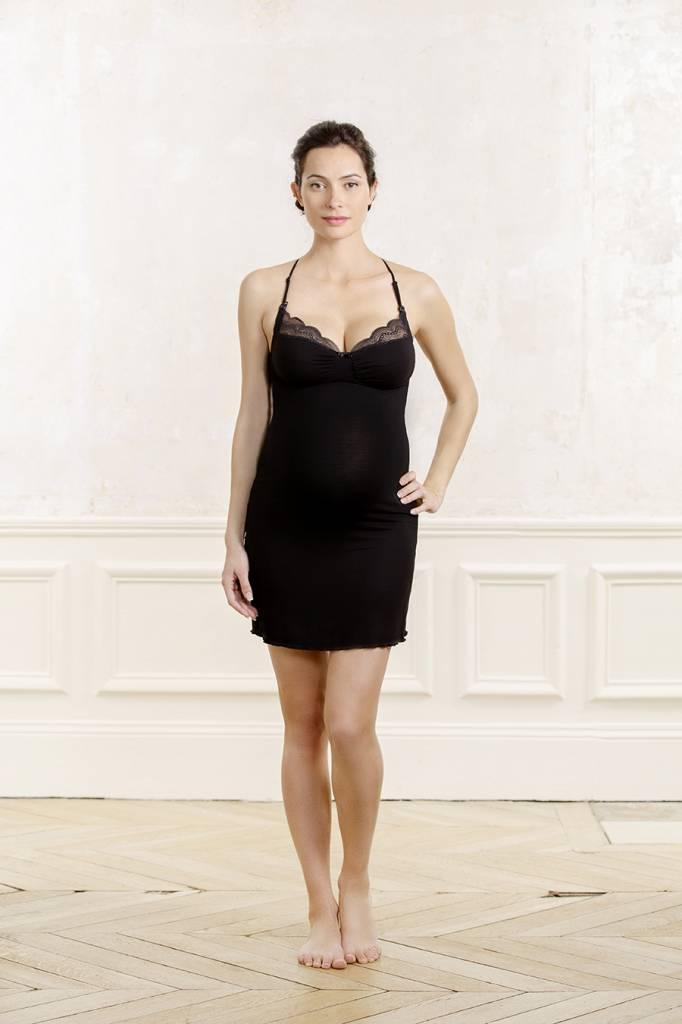 Cache Coeur Serenity nursing maternity nightdress in Black