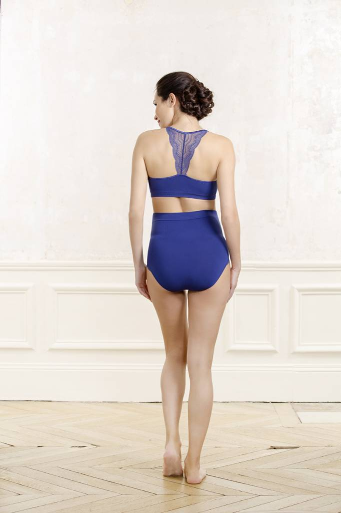 Cache Coeur Serenity lace maternity nursing bralet in Royal Blue