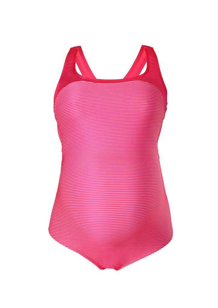 Cache Coeur Yana maternity swimsuit in Hot Pink