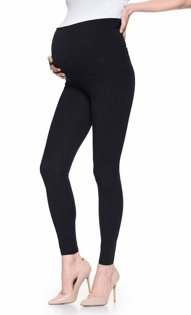 Ashley Nicole Black cotton maternity leggings