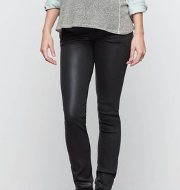 Leatherette Waxed Ultra Skinny maternity jeans