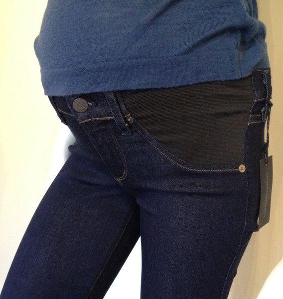 "Citizens of Humanity Avedon Ultra Skinny underbelly maternity jean ""leatherette waxed"""