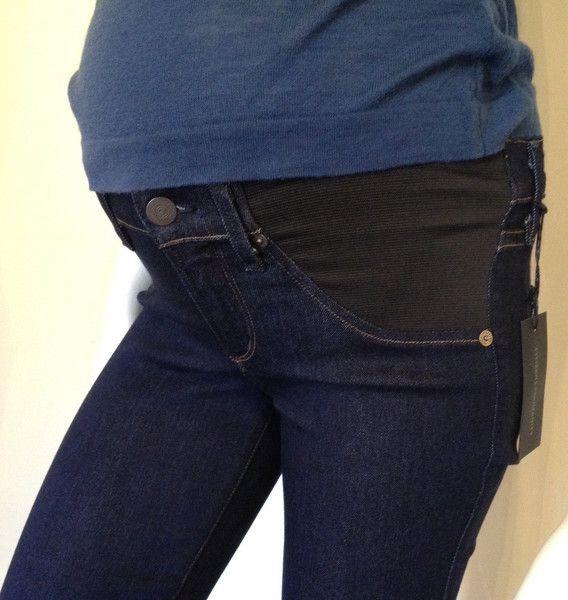 "Citizens of Humanity Citizens of Humanity Avedon Ultra Skinny underbelly maternity jean ""leatherette waxed"""